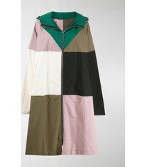 colville hooded patchwork coat