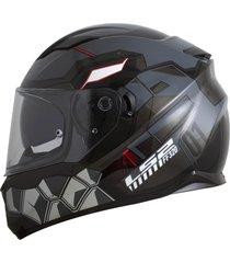 capacete ls2 ff320 stream angel cinza (viseira solar) ff320 stream ange - cinza/incolor - masculino - dafiti
