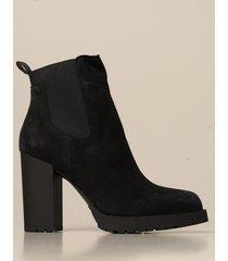 hogan heeled booties hogan slip on ankle boot in suede
