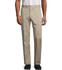 saks fifth avenue men's stretch-cotton twill pants - stone - size 42 r