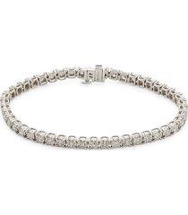 effy women's 14k white gold & diamond tennis bracelet
