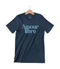 camiseta arimlap amour libre azul marinho