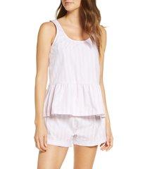 women's sant and abel braddock stripe peplum short pajamas