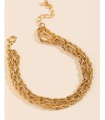 women's carra triple strand bracelet in gold by francesca's - size: one size