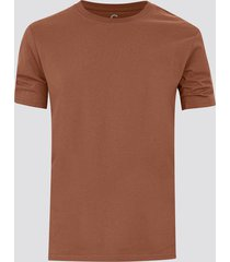 t-shirt i bomull - roströd