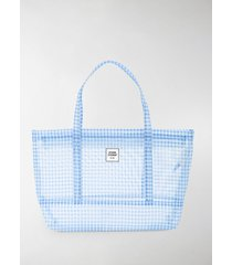 opening ceremony gingham small chinatown tote