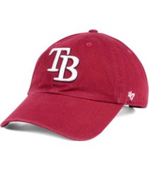 '47 brand tampa bay rays cardinal and white clean up cap