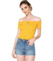 blusa mostaza ambiance