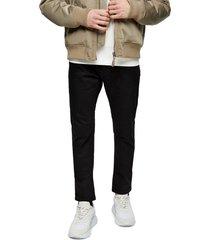 men's topman carpenter slim straight leg jeans, size 36 x 32 - black