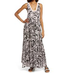 women's free people tiers for you sleeveless maxi dress, size medium - black