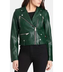 levi's classic faux leather asymmetrical motorcycle jacket