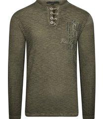 rusty neal heren shirt groen