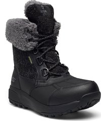 womens outdoor ultra - waterproof shoes boots ankle boots ankle boot - flat svart skechers