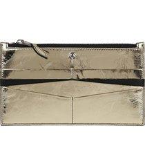 alexander mcqueen flat zip wallet w/cc