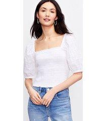 loft clip smocked blouse