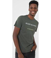camiseta calvin klein jeans accept no fakes verde