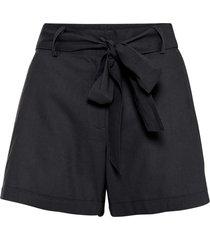shorts in misto lino (nero) - bodyflirt