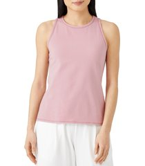 women's eileen fisher slim fit scoop neck tank, size large - pink