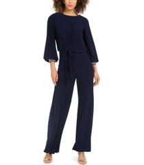 msk rhinestone-embellished wide-leg jumpsuit