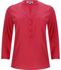 blusa pechera con botones unicolor color rosado, talla xs