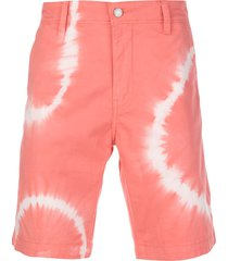 levi's tie-dye chino shorts - pink