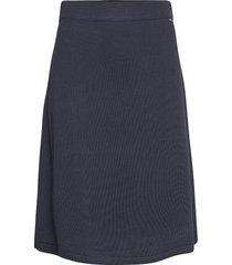 chastity cotton/bamboo knitted skirt rok knielengte blauw lexington clothing