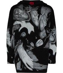 424 wu-tang clan print hoodie - black