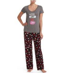 hue women's printed 2 pc pajama set