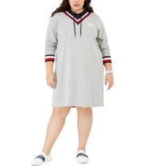 tommy hilfiger plus size hoodie sweatshirt dress