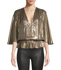 tonya platinum popover metallic top