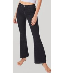 jeans flare high waist negro amalia jeans