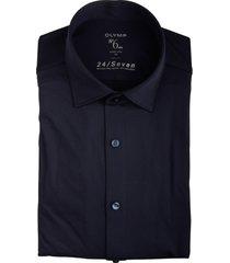 olymp overhemd donkerblauw stretch 251264/18