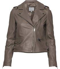 josita leather jacket läderjacka skinnjacka grå andiata