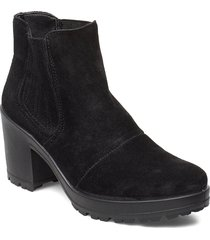 biacorvina suede boot shoes boots ankle boots ankle boots with heel svart bianco