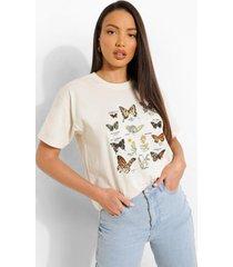 tall oversized vlinder t-shirt, ecru
