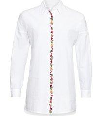 camicetta lunga (bianco) - rainbow