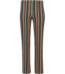 pantalón  rayas de colores color negro, talla 6