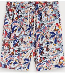 scotch & soda printed viscose shorts keoni