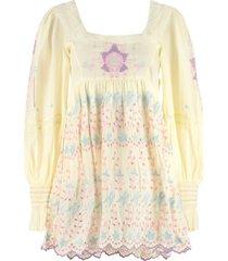 loveshackfancy freja embroidered mini dress