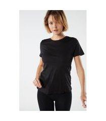 blusa de manga curta em algodão supima® - preto g intimissimi