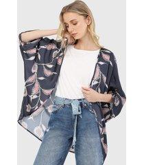 kimono azul-multicolor esprit