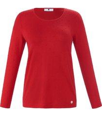 trui met lange mouwen van anna aura rood
