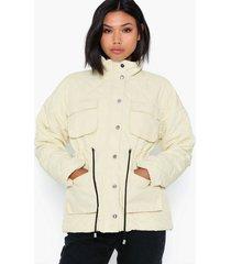 missguided quilted draw cord waist coat övriga jackor