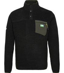 b trail polar fleece pop over sweat-shirts & hoodies fleeces & midlayers svart superdry