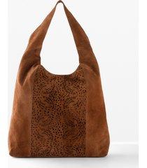 borsa shopper in pelle (marrone) - bpc bonprix collection