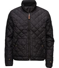 pet light jacket reversible - grs/v doorgestikte jas zwart knowledge cotton apparel