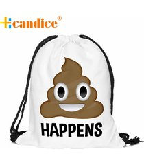 mochila femmes sac unisex emoji backpacks 3d printing bags drawstring backpack d