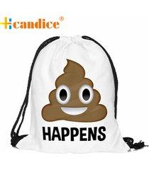 mochila femmes sac unisex emoji backpacks 3d printing bags drawstring backpack d