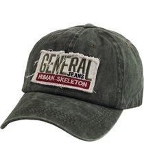 gorra verde bohemia vintage con parche