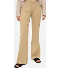mango women's flared cotton trousers